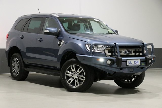 Used Ford Everest UA II MY19 Trend (4WD 7 Seat), 2019 Ford Everest UA II MY19 Trend (4WD 7 Seat) Blue 10 Speed Auto Seq Sportshift Wagon