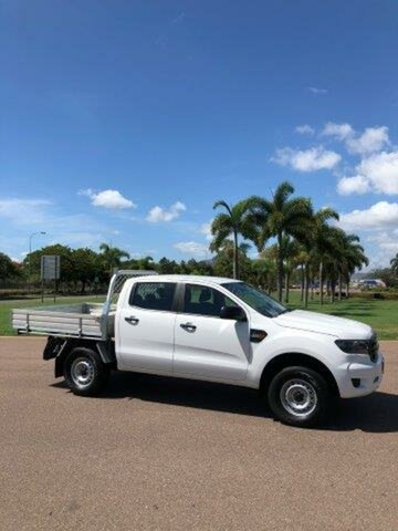 Used Ford Ranger PX MkIII 2019.00MY XL Double Cab, 2019 Ford Ranger PX MkIII 2019.00MY XL Double Cab Arctic White 6 Speed Sports Automatic Cab Chassis