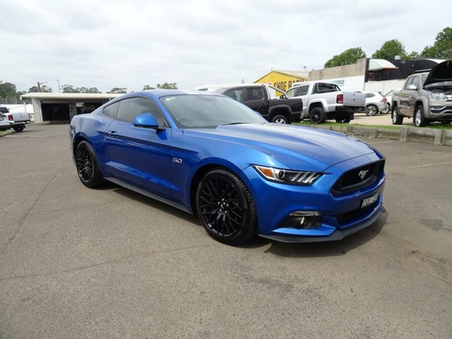 Used Ford Mustang FM 2017MY GT Fastback SelectShift, 2017 Ford Mustang FM 2017MY GT Fastback SelectShift Blue Lightning 6 Speed Sports Automatic Fastback