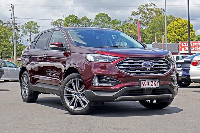 Used Ford Endura CA 2019MY Titanium SelectShift AWD, 2018 Ford Endura CA 2019MY Titanium SelectShift AWD Burgundy 8 Speed Sports Automatic Wagon