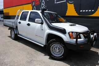 2011 Holden Colorado RC MY11 LX Crew Cab Alpine White 5 Speed Manual Cab Chassis.