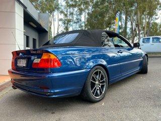 2000 BMW 3 Series E46 330Ci Metallic Blue 5 Speed Automatic Convertible.