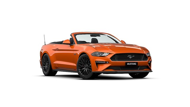 New Ford Mustang FN MY20 GT 5.0 V8 Dandenong, 2021 Ford Mustang FN MY20 GT 5.0 V8 Twister Orange 10 Speed Automatic Convertible