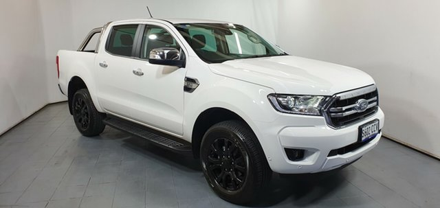 Demo Ford Ranger PX MkIII 2019.75MY XLT Pick-up Double Cab, 2019 Ford Ranger PX MkIII 2019.75MY XLT Pick-up Double Cab Arctic White 6 Speed Sports Automatic