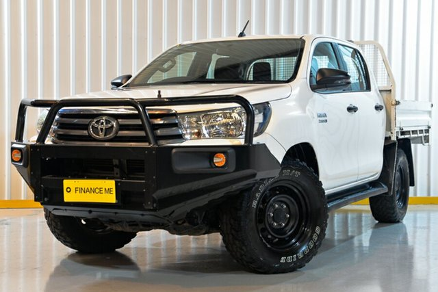 Used Toyota Hilux GUN126R SR Double Cab, 2018 Toyota Hilux GUN126R SR Double Cab White 6 Speed Sports Automatic Utility