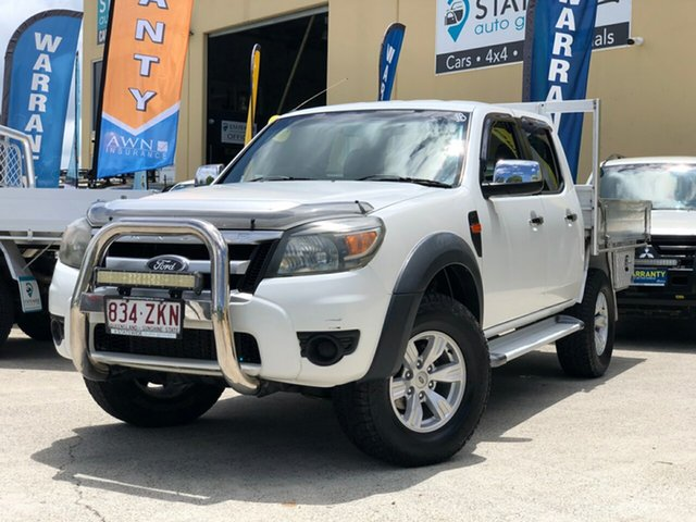 Used Ford Ranger PK XL (4x4), 2011 Ford Ranger PK XL (4x4) White 5 Speed Automatic Dual Cab Pick-up