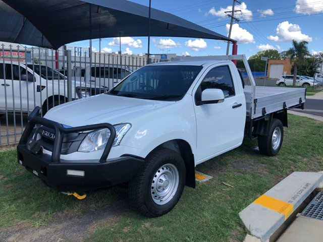 Used Isuzu D-MAX TF MY15 SX (4x4), 2015 Isuzu D-MAX TF MY15 SX (4x4) White 5 Speed Automatic Cab Chassis