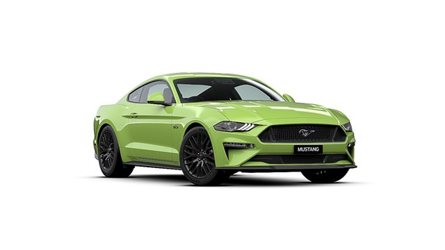 New Ford Mustang FN 2020MY GT, 2019 Ford Mustang FN 2020MY GT Grabber Lime 10 Speed Sports Automatic Fastback