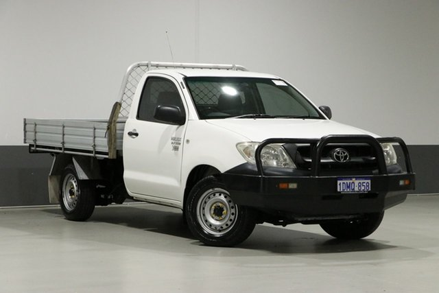 Used Toyota Hilux TGN16R 09 Upgrade Workmate, 2010 Toyota Hilux TGN16R 09 Upgrade Workmate White 5 Speed Manual Cab Chassis