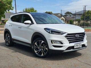 2019 Hyundai Tucson TL3 MY20 Highlander AWD Pure White 8 Speed Sports Automatic Wagon.