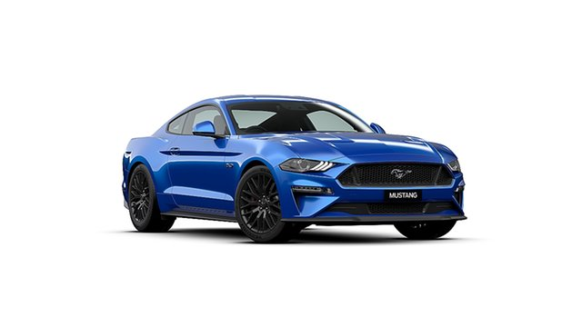 New Ford Mustang FN 2020MY GT, 2019 Ford Mustang FN 2020MY GT Velocity Blue 6 Speed Manual Fastback