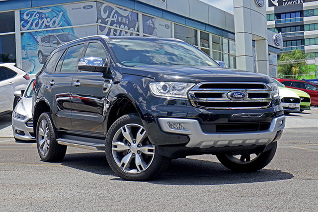 Used Ford Everest UA Titanium Springwood, 2017 Ford Everest UA Titanium Black 6 Speed Sports Automatic SUV