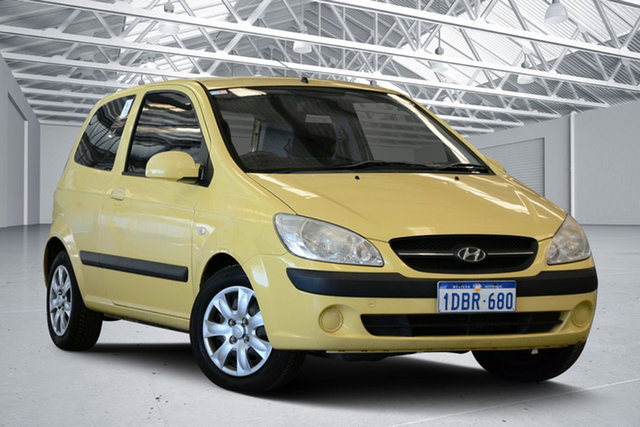 Used Hyundai Getz TB MY09 S, 2009 Hyundai Getz TB MY09 S Sheer Yellow 5 Speed Manual Hatchback