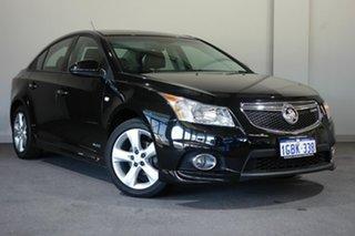 2012 Holden Cruze JH Series II MY13 SRi-V Black 6 Speed Sports Automatic Sedan.