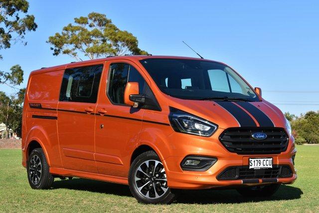 Demo Ford Transit Custom VN 2019.75MY 320L Low Roof LWB Sport, 2019 Ford Transit Custom VN 2019.75MY 320L Low Roof LWB Sport Orange Glow 6 Speed Automatic Van