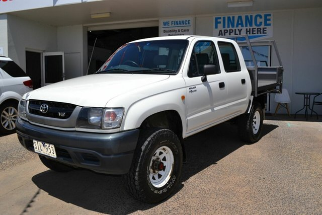 Used Toyota Hilux VZN167R (4x4), 2003 Toyota Hilux VZN167R (4x4) White 5 Speed Manual Dual Cab Pick-up