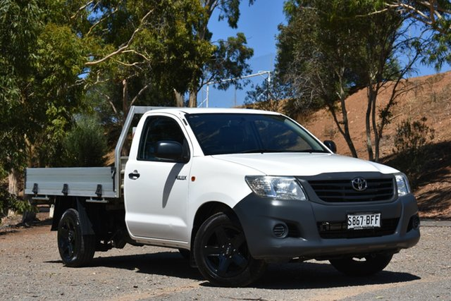 Used Toyota Hilux TGN16R MY14 Workmate Double Cab 4x2, 2014 Toyota Hilux TGN16R MY14 Workmate Double Cab 4x2 White 5 Speed Manual Utility