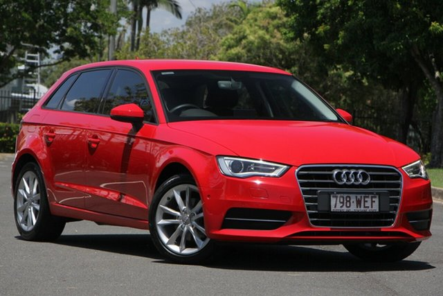 Used Audi A3 8V MY15 Attraction Sportback S Tronic, 2015 Audi A3 8V MY15 Attraction Sportback S Tronic Red 7 Speed Sports Automatic Dual Clutch