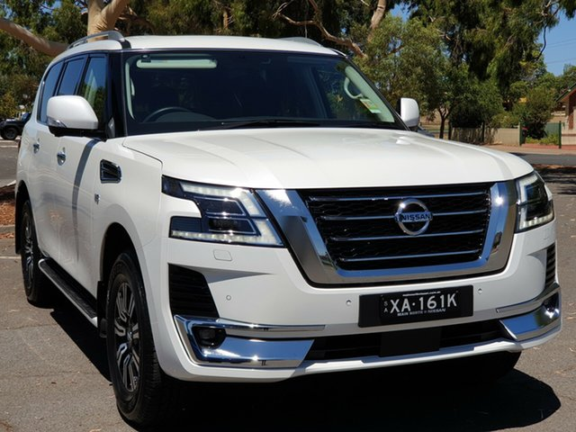 Demo Nissan Patrol Y62 Series 5 MY20 TI-L, 2019 Nissan Patrol Y62 Series 5 MY20 TI-L White 7 Speed Sports Automatic Wagon
