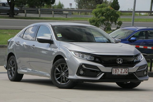 Demo Honda Civic 10th Gen MY20 VTi-S, 2019 Honda Civic 10th Gen MY20 VTi-S Lunar Silver 1 Speed Constant Variable Hatchback