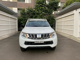 2015 Mitsubishi Triton MQ MY16 GLX 4x2 White 6 Speed Manual Cab Chassis.