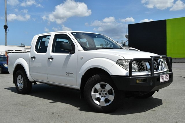 Used Nissan Navara D40 MY12 RX (4x4), 2012 Nissan Navara D40 MY12 RX (4x4) White 6 Speed Manual Dual Cab Pick-up