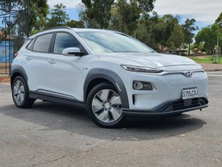 2019 Hyundai Kona OS.3 MY19 electric Highlander Chalk White 1 Speed Reduction Gear Wagon.