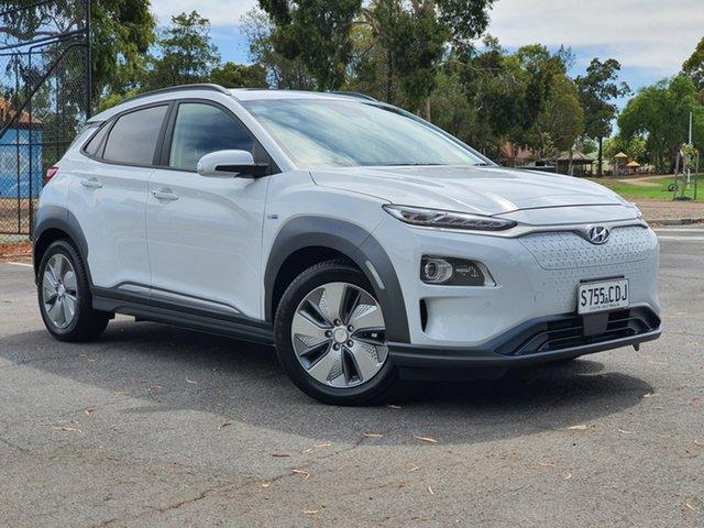 Demo Hyundai Kona OS.3 MY19 electric Highlander, 2019 Hyundai Kona OS.3 MY19 electric Highlander Chalk White 1 Speed Reduction Gear Wagon