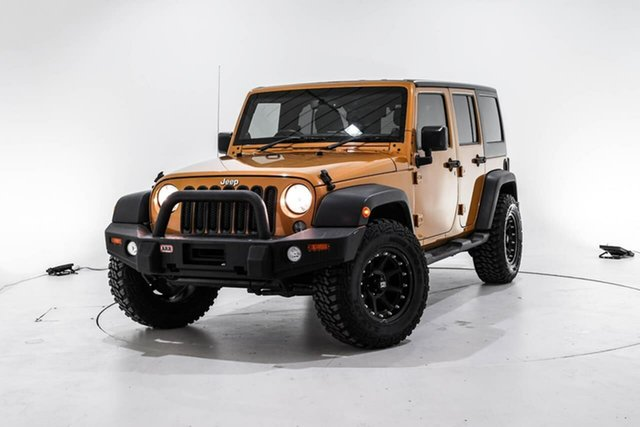 Used Jeep Wrangler JK MY2014 Unlimited Sport, 2014 Jeep Wrangler JK MY2014 Unlimited Sport Gold 5 Speed Automatic Softtop