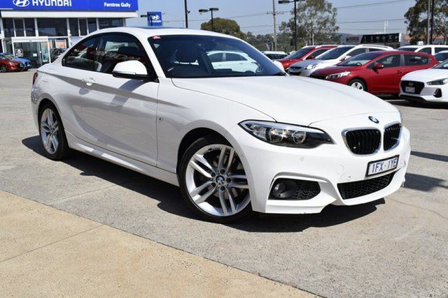 Used BMW 2 Series F22 220d Sport Line, 2016 BMW 2 Series F22 220d Sport Line White 8 Speed Sports Automatic Coupe