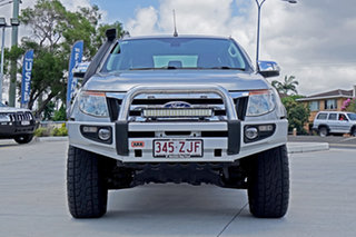 2013 Ford Ranger PX XLT Double Cab Highlight Silver 6 Speed Sports Automatic Utility.