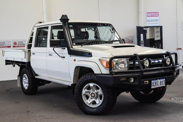 Used Toyota Landcruiser VDJ79R MY13 GXL Double Cab, 2014 Toyota Landcruiser VDJ79R MY13 GXL Double Cab 5 Speed Manual Cab Chassis