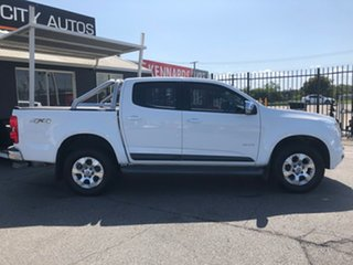 2014 Holden Colorado RG MY14 LTZ (4x4) White 6 Speed Manual Crew Cab Pickup.