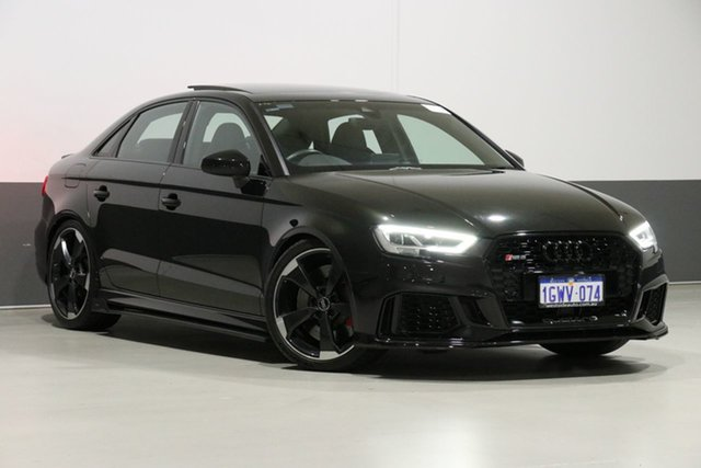 Used Audi RS 3 8V MY18 Quattro, 2018 Audi RS 3 8V MY18 Quattro Black 7 Speed Auto Dual Clutch Sedan
