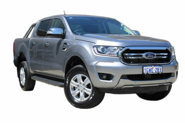 Demo Ford Ranger PX MkIII 2019.75MY XLT Pick-up Double Cab, 2019 Ford Ranger PX MkIII 2019.75MY XLT Pick-up Double Cab Silver 6 Speed Sports Automatic Utility