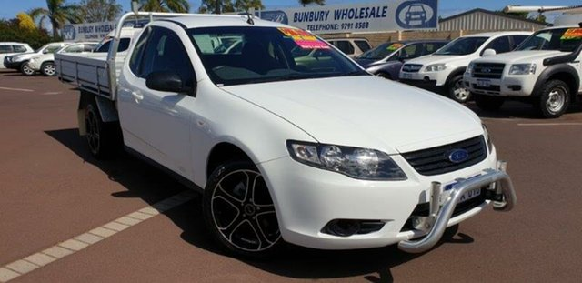 Used Ford Falcon FG Super Cab, 2009 Ford Falcon FG Super Cab White 5 Speed Sports Automatic Cab Chassis