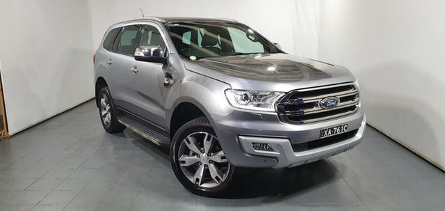 Used Ford Everest UA Titanium 4WD, 2017 Ford Everest UA Titanium 4WD Silver 6 Speed Sports Automatic Wagon