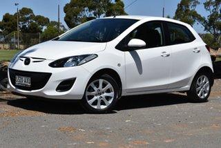 2013 Mazda 2 DE10Y2 MY14 Neo Sport White 5 Speed Manual Hatchback.