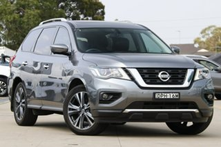 2017 Nissan Pathfinder R52 MY17 Series 2 TI (4x4) Grey Continuous Variable Wagon.