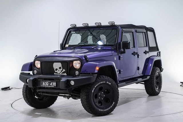 Used Jeep Wrangler JK MY18 Unlimited Overland, 2017 Jeep Wrangler JK MY18 Unlimited Overland Purple 5 Speed Automatic Hardtop