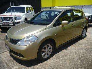 2007 Nissan Tiida C11 MY07 Q Yellow 6 Speed Manual Hatchback.