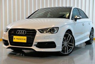 2016 Audi S3 8V MY17 S Tronic Quattro White 7 Speed Sports Automatic Dual Clutch Sedan.