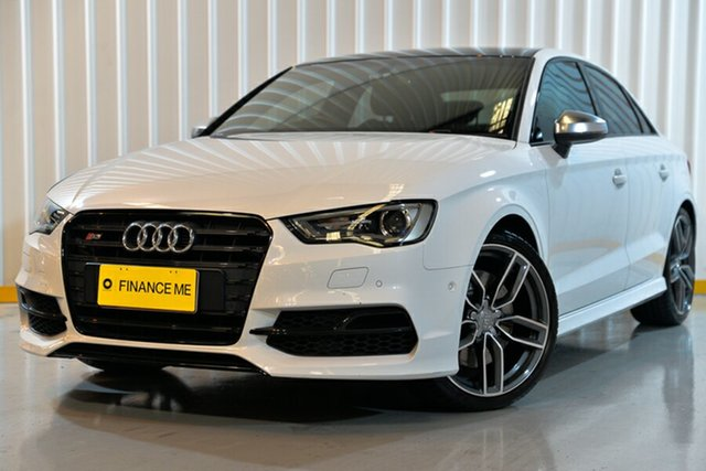 Used Audi S3 8V MY17 S Tronic Quattro, 2016 Audi S3 8V MY17 S Tronic Quattro White 7 Speed Sports Automatic Dual Clutch Sedan