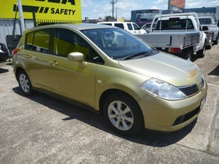 2007 Nissan Tiida C11 MY07 Q Yellow 6 Speed Manual Hatchback