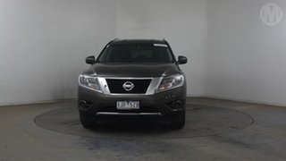 2016 Nissan Pathfinder R52 MY15 ST (4x2) Grey Continuous Variable Wagon.