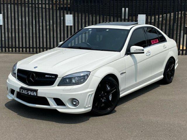 Used Mercedes-Benz C-Class W204 MY11 C63 AMG, 2011 Mercedes-Benz C-Class W204 MY11 C63 AMG White 7 Speed Sports Automatic Sedan