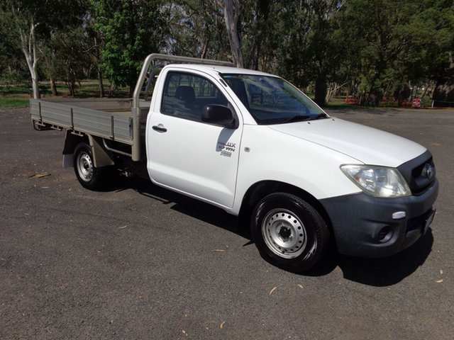 Used Toyota Hilux TGN16R 08 Upgrade Workmate, 2009 Toyota Hilux TGN16R 08 Upgrade Workmate Glacier White 5 Speed Manual Cab Chassis