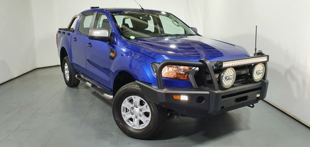 Used Ford Ranger PX XLS Double Cab, 2015 Ford Ranger PX XLS Double Cab Blue 6 Speed Sports Automatic Utility