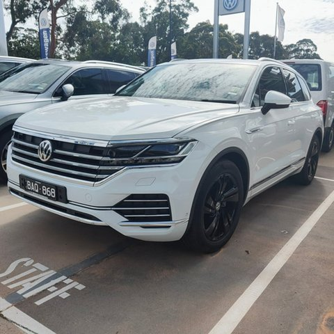 Demo Volkswagen Touareg CR MY20 190TDI Tiptronic 4MOTION Premium, 2019 Volkswagen Touareg CR MY20 190TDI Tiptronic 4MOTION Premium White 8 Speed Sports Automatic