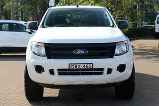 2015 Ford Ranger PX XL 2.2 (4x4) White 6 Speed Automatic Crew Cab Utility